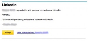 Not the way to make an impression on LinkedIn